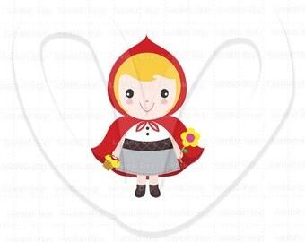 Little Red Riding Hood Clip Art A34N