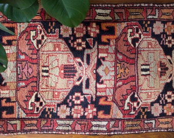 Vintage Persian Rug / Semi Antique Persian Rug / Small Persian / Vintage Entry Rug / FREE US Shipping