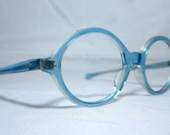 Vintage 60s Blue round frames. Great Color