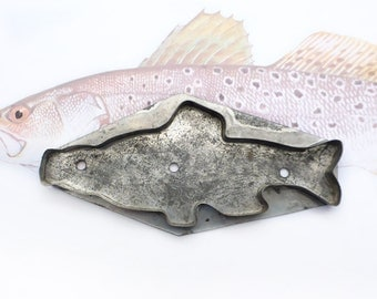 Primitive Fish Cookie Cutter, Soldered Tin