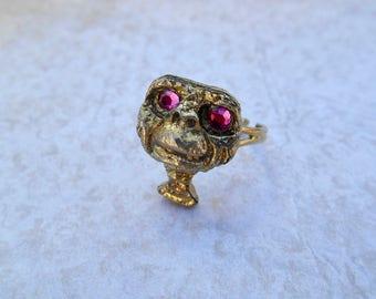 ET Ring, Vintage ET Ring, Vintage Ring, Brass Vintage Ring