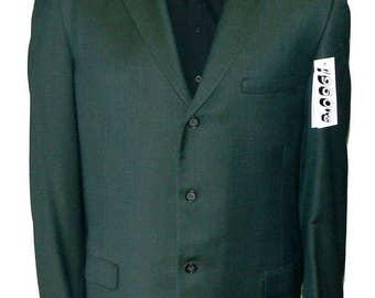 Vintage 1960s Green Sharkskin Blazer Size 44