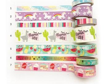 "Washi Tape SAMPLES - 18"" - Choose a Pattern or Choose a Bundle"