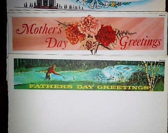 3 Antique 1960s Telegram NOS Sheets Mothers Fathers Day Easter