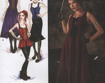 Laced Bodice Camisole Dress, Two Lengths Womens Size 14 16 18 20 22 Uncut Sewing Pattern