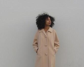 Cashmere coat 1960s womens winter coat