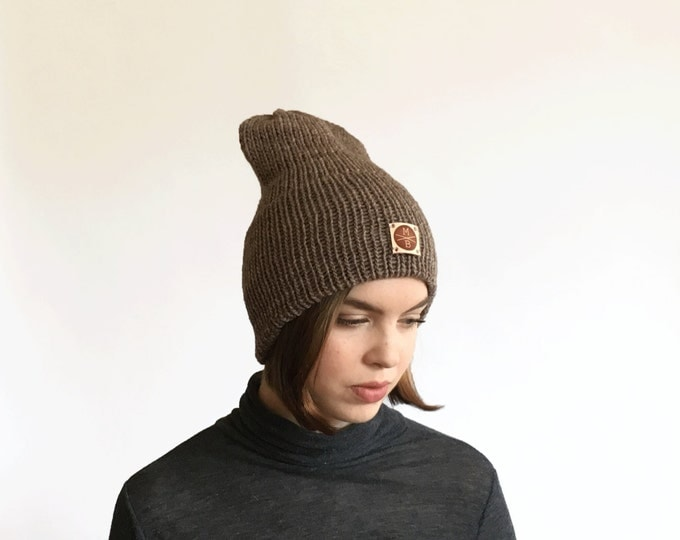 Brownstone Slouchy Wool Knit Beanie Winter Hat