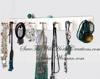 "19"" Jewelry Organizer, Closet or Bath Organizer .Choose Your Color & Finish, Distressed/Rustic. Ideal Gift Idea for Bridal Shower."