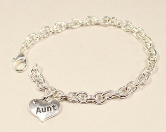 Aunt Bracelet - Gift for Aunt-  New Aunt Gift  - Aunt Jewelry - Bracelet for Aunt - Aunt Gift - Favorite Aunt Gift - I Love My Aunt - Aunt