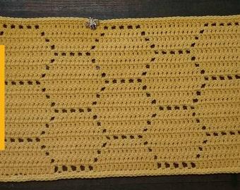 Honeycomb Honeybee Crochet Placemat PATTERN ONLY