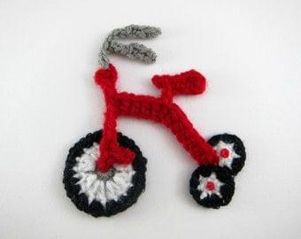 """1pc 4"""" Crochet TRICYCLE Applique"""