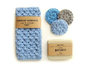 Stocking Stuffer Men Christmas Gift Set For Husband Gift for Brother Natural Soap Set