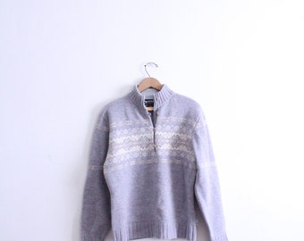 Pastel Nordic Wool Collar Sweater