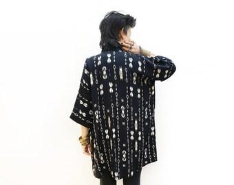 Black Kimono Jacket, Bohemian Fashion, Aztec Kimono, Light Jacket, Boho Kimono Cardigan, Black Cover Up, Aztec Clothing, Plus Size Kimono