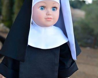 "Benedictine Nun Habit, 18"" Catholic Doll Clothes"