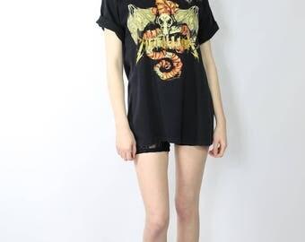 1992 Metallica Tee / 90s Vintage T-Shirt / Wherever I May Roam / 1990s Metal / Pushead Graphic Artwork