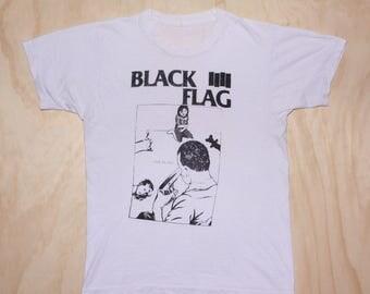 Vtg Black Flag 1984 Family Man Album Promo Henry Rollins Rare 80s Punk Concert Tour T Shirt