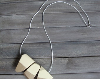 Geometric Natural Necklace /Allena Style