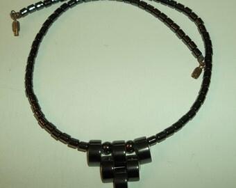 Hematite  Deco Style necklace.
