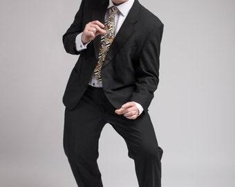 Vintage Tuxedo suit, ch 107 cm 42 in, EU 52-54, short dinner suit, w 102/40/50 S Marks& Spencer