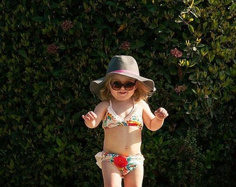 Vintage Monogram Swimsuit, Baby Swimwear, Toddler Swimwear, Baby Bikini, Toddler Bikini Personalized Bikini, Bathing Suit, Monogram Swimwear