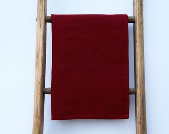 Linen Kitchen Burgundy TEA TOWEL - 66cmx48cm