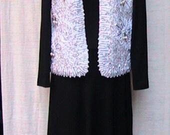 L/XL WHITE BEADED Vest