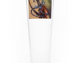 On the Wheel Single Beer Glass - Sidewalk Glint