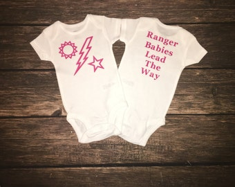 Army Ranger DUI - Ranger Babies Lead the Way Onesie (multiple design colors available) 1/75, 2/75, 3/75