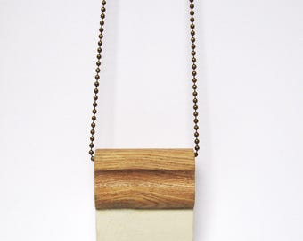 Wooden screen printing squeegee necklace