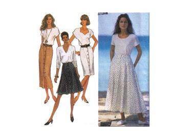 Uncut Simplicity 8498, 90s Sewing Pattern, Size 18-24 Women's Slim Skirt Maxi, Gored Skirt, Button Down Pencil Skirt