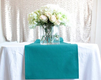 10 Teal Wedding Table Runners - Many Sizes - Cotton Table Runners - Teal Table Runner - Pack of 10