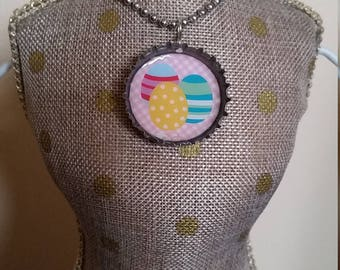 Easter Egg / Jelly Belly Soda - Spinning Bottle Cap Necklace