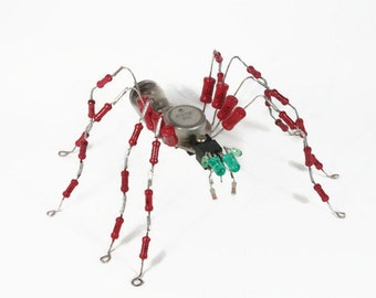 Spider - Insect - Home decor - Entomologist - Unique gift -  Gift for Him -  For dad - Reuse details - Home industrial decor