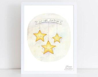 Starlight Starbright / INSTANT DOWNLOAD / Nursery Art / Kids Room / Nursery Printable / Wall Art / Nursery Decor / Digital Print / 8x10
