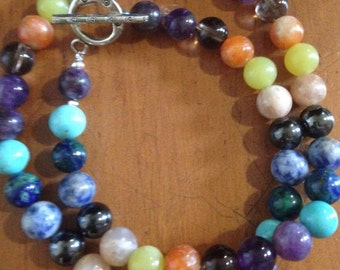 ॐCrystal Blissॐ Stress Anxiety & Good Luck Necklace - Reiki Charged