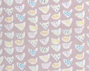 Kokka Trefle Japanese fabric in double gauze - 1/2 YD