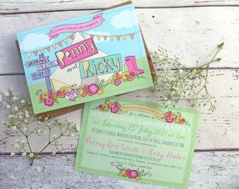 Wedfest Wedding Invitation - tipi, boho, festival wedding