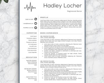 Nurse Resume Template, Nurse Resume, Professional Nurse Resume Template,  Professional Nurse CV,
