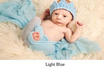 Baby Boy crochet Crown,  Adjustable Baby Boy Prince Crochet crown, Baby Boy Crown Photo Prop, Baby Boy Shower Gift