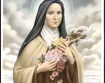 St. Therese of Lisieux Picture Print Catholic Art