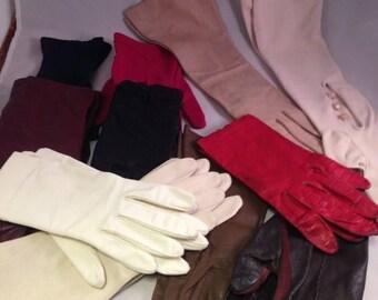 ON SALE Vintage Ladies Gloves, Short Gloves, Long Gloves, Vintage Gloves,Evening Gloves, Easter Gloves, Lot of 11