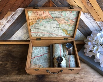 Jewelry box- Arrows- Vintage Tobacco Stick divider. Customize, personalize - I ship world wide, message me for quotes!