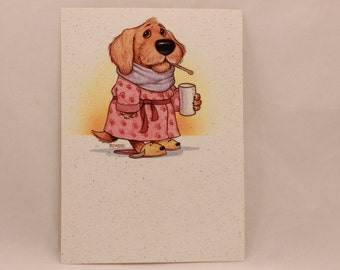 Get Well Greeting Card by The Deep End.  1 Card & 1 Envelope included