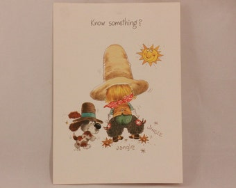 Vintage Norcross Cowboy Joe Love You Card and Envelope