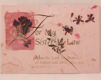 NEW! Vintage Sister in Law Birthday by Dayspring. 1 Card and 1 Envelope included.