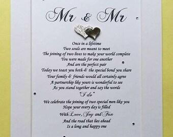 Gay Wedding Gift, Gay Couple, Mr and Mr, Groom and Groom gift, Wedding gift for gay couple
