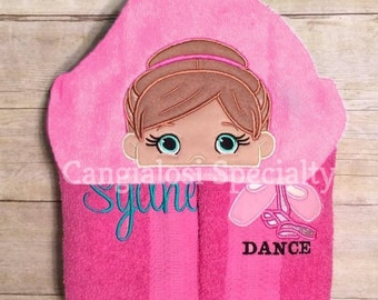 Customizable Ballerina Hooded Towel/ Baby/Kids/Adult/Baby Shower/Birthday/Christmas/Gift/Bath/Pool/Towel/Ballet/Theme/Towel/Party/Idea/Beach