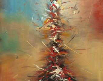 """Original Abstract Painting by Nalan Laluk: """"Tree of Life"""""""