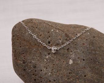 Glimmer of hope necklace herkimer diamond on sterling chain